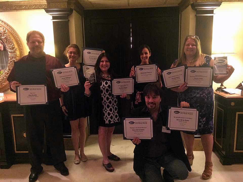 Matt Bodkin, Kimberly Dijkstra, Sheri ArbitalJacoby, Jennifer Fauci, Christy Hinko, Dave Gil de Rubio (kneeling)